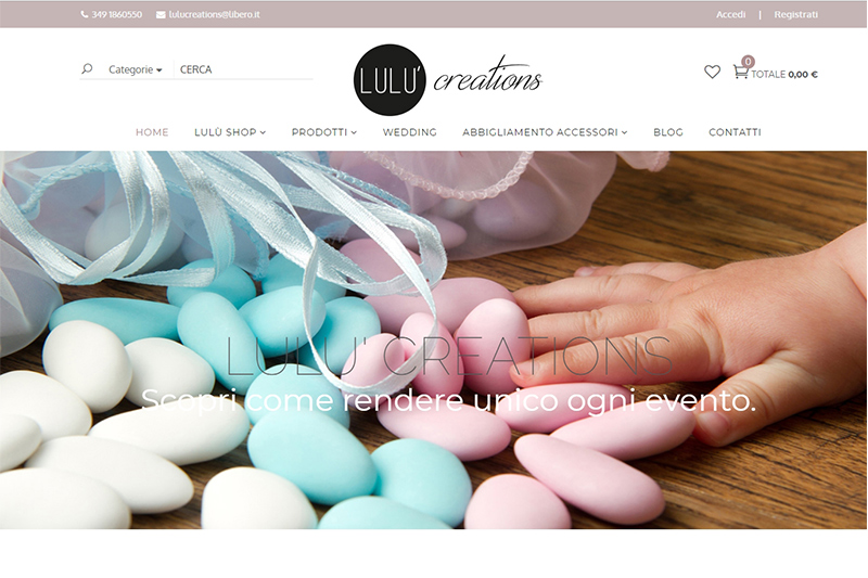 Lulù creation - E-commerce